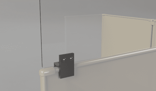Cubicle Panel Extender Clamping Bracket