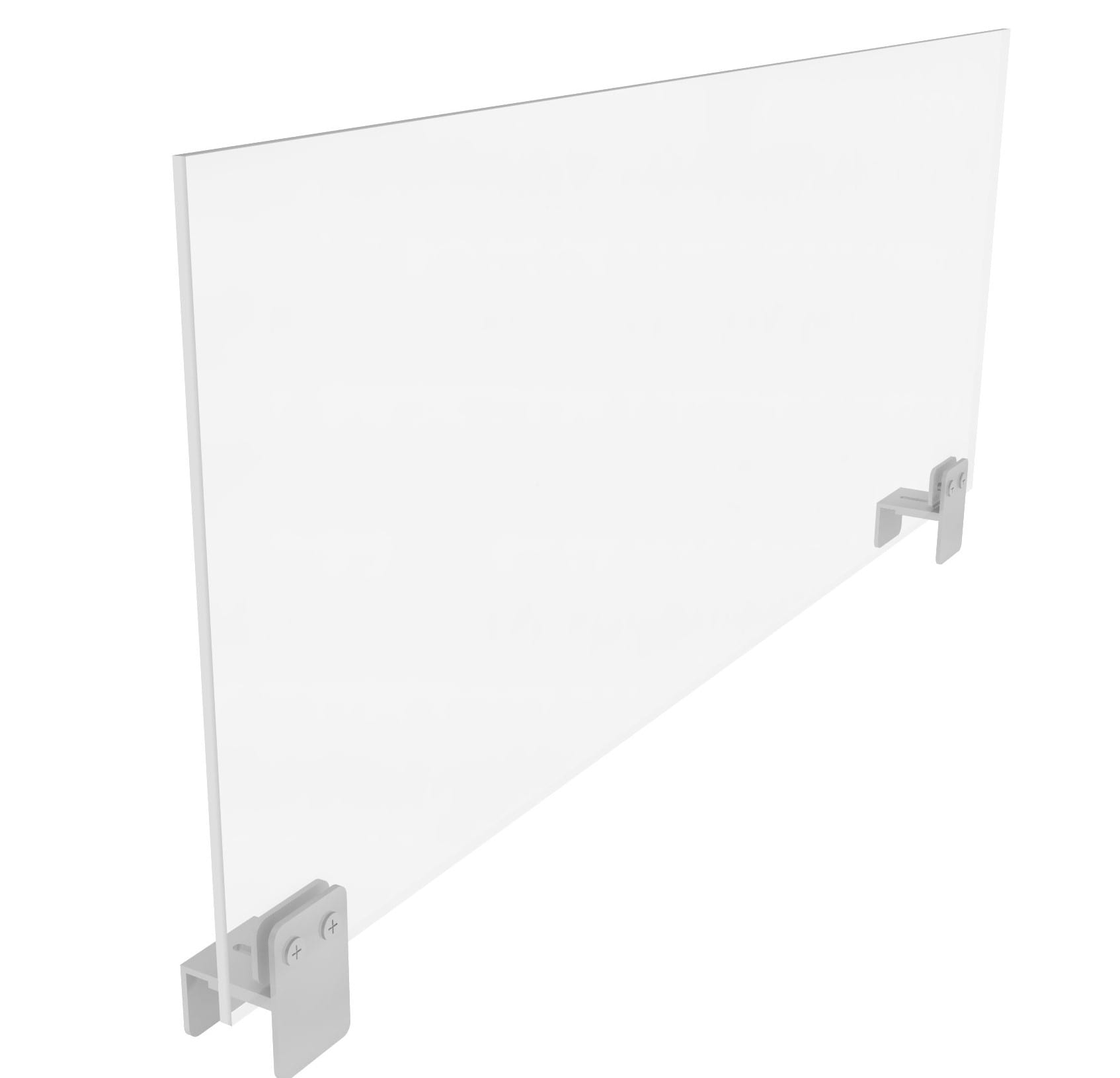 Cubicle Sneeze Guard with Clamp On Brackets