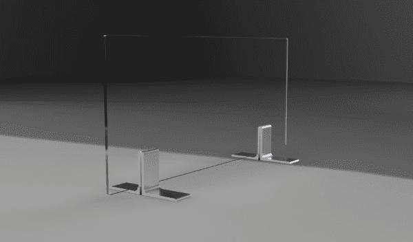 Freestanding Sneeze Guard Panel