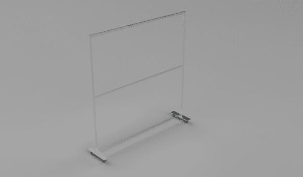 Mobile Plexiglas Sneeze Guard Partition