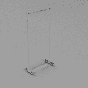 4' x 6' Clear Acrylic Divider with Wheels