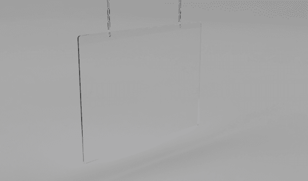 Hanging Sneeze Guard Panel