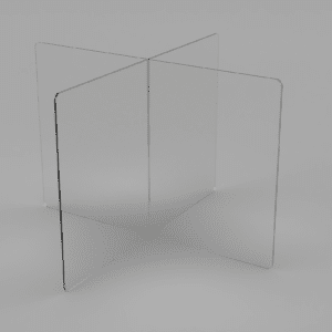 Acrylic Desk Divider for Cafeteria Tables