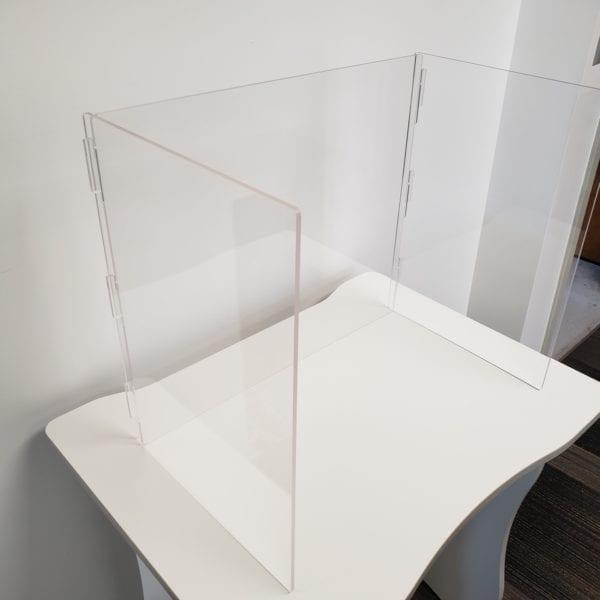 Clear desk divider shield