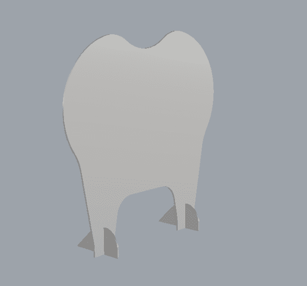 Tooth Shaped Sneeze Guard for Dentist