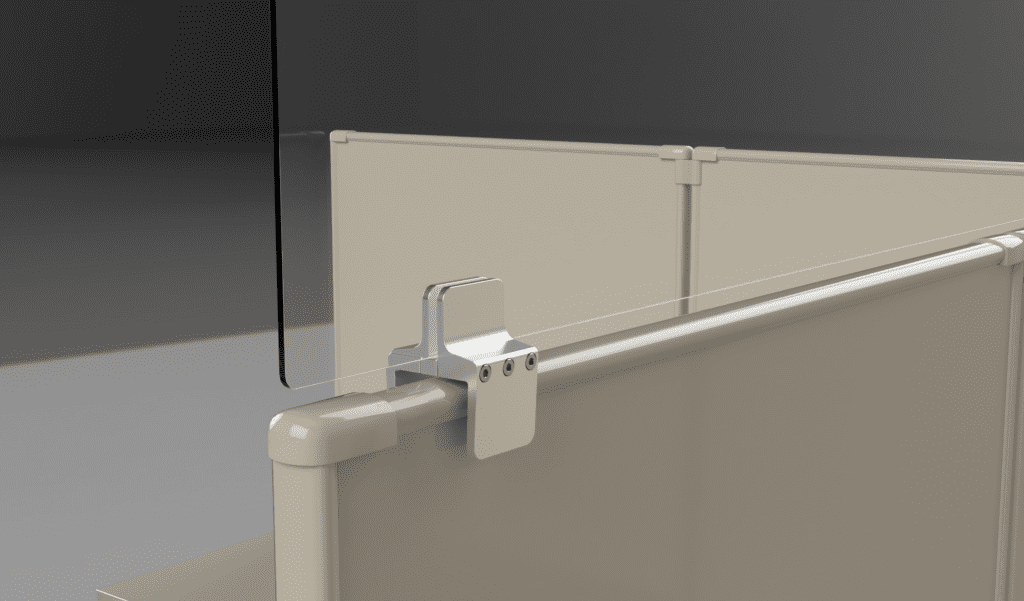 ZFORCE Cubicle Sneeze Guard Bracket for Acrylic
