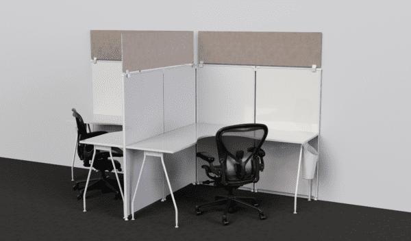 Sound Dampening Cubicle Panel Extender
