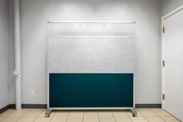 Mobile Privacy Panel with Plexiglas Accent